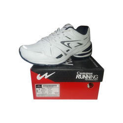 Campus White And Navy Running Shoe