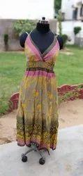 Vintage Silk Smoking Dress
