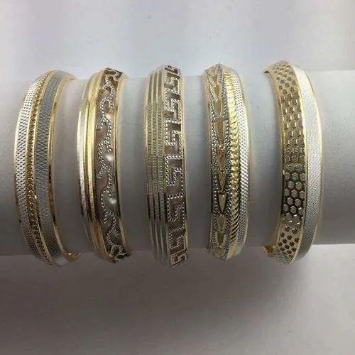 Men 22 Carat Gold Designer Gold Kara Rs 4150 Gram Bant Ram