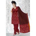 Red Designer Bandhani Suit