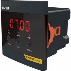 0.01 Digital PO 650 Aster On-line pH Meter, For Industrial