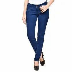 Plain Ladies Blue Denim Jeans, Packaging Type: Packet, Waist Size: 28-40