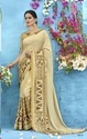 Designer Chiffon Printed With Lace Daily Wear Saree With Blouse