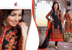 Embroidered Georgette Suit