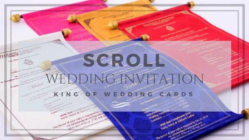 scroll invitations royal scroll wedding invites sardarnagar