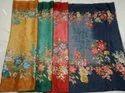 Ladies Flower Print Kota Silk Saree