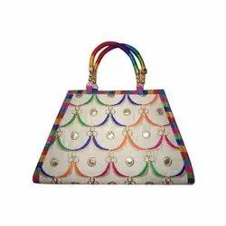 Embroidered Ladies Designer Hand Bag, Packaging Type: Plastic Bag