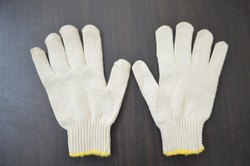 SS & WW Make Full Finger Unisex 60 Gram Cotton Knitted Safety Hand Gloves