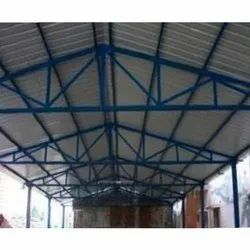 Mild Steel Ms Industrial Roofing Shed, For HEN SED