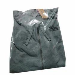 Mens Cotton Grey Hooded T-Shirt