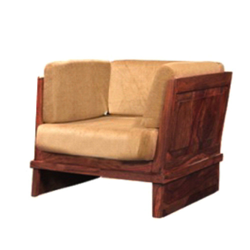 Brown Wooden Sofa Chair