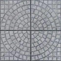 Stone Finish Chequerred Tiles