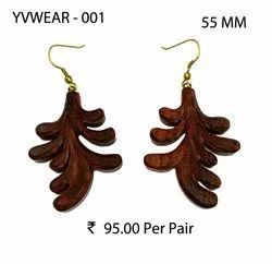 Wooden Ear Rings