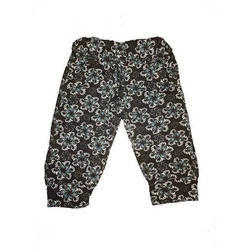 Girls Cotton Printed Pant, Size: M & L