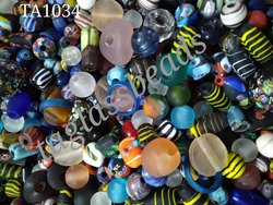 Assorted  Murano Frosted Glass Beads