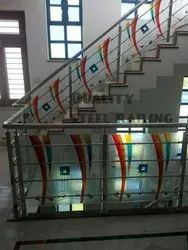 Stainless steel designer glass railling