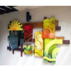 Multicolor Wooden Mural