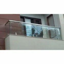 SS Glass Balcony Railing