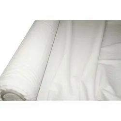 35-50 Inch Gray Plain White Cotton Fabric, GSM: 100
