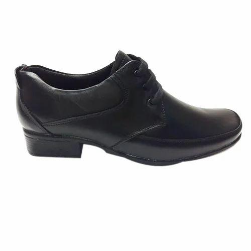 Mens Black Leather Lace Up Shoes, Size