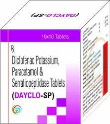 Diclofenac Sodium, Paracetamol, Serratiopeptidase Tablets