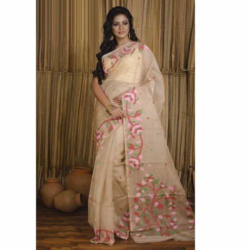 6c281cb775795 Pure Handloom Muslin Jamdani Saree In Beige at Rs 7500  piece ...
