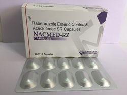 Aceclofenac 200mg Rabeprazole 20mg 10X10 ALU ALU