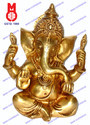 Ganesh Carved W/ Big Ears & Ring Statue