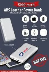 5000 mAh ABS Leather Power Bank