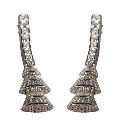 Branded Silver Earrings