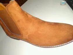 Women Tan High Neck Boot
