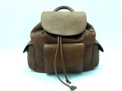 Soft Leather Backpack Bag
