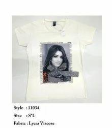 Girls Printed Lycra Viscose Top