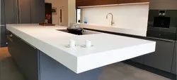 Acrylic Polished Corian (Dupont) Countertop, Thickness: 12mm, Size: 12 X 2.5 Feet