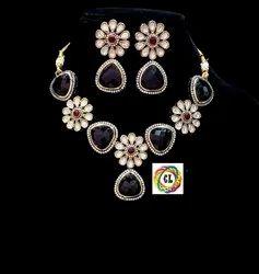CL Jewellery Fine Quality Semi Precious Victorian Kundan Customized Designer Necklace Set