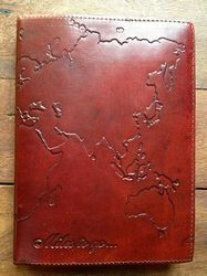 World Map Leather Embossed Journal
