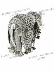 Silver Plated Antique Elephant