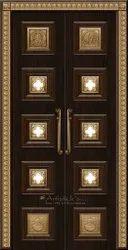Pooja Design Door