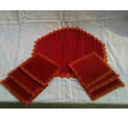 Bamboo Red Table Coasters