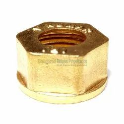 Plumbit Hexagonal Forged Collar Brass Nut, For Pipe fitting