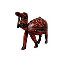 Printed Wooden Camel Statue