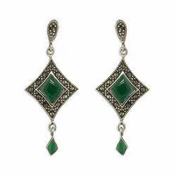 Gemstone Silver Earring Standard European Style