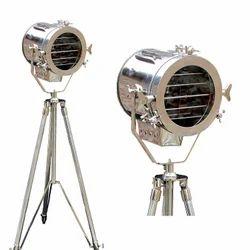 Nautical Steel Searchlight Floor Lamp