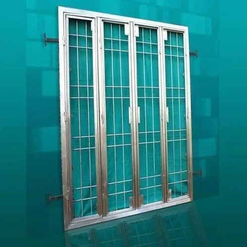 Polished Rectangular Stainless Steel Window, For Home, Size/Dimension: 5 Feet (height )