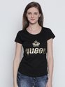 Women's Round Neck 100% Cotton Printed T-Shirt