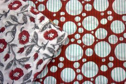 Indian Handmade Hand Block Printed Fabric