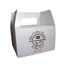 Paper Rectangle Handle Carton Box For Packaging