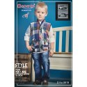 Multicolor Momento Fashion Boys Partywear Jacket Set, Packaging Type: Box