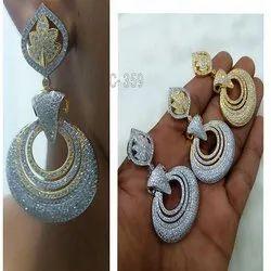 American Diamond Earring Jewelry