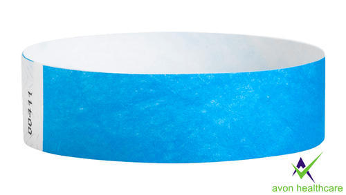 Blue Colour Paper Wristband